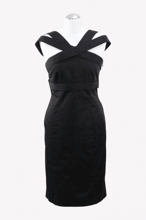 Karen Millen Shiftkleid in Schwarz aus Baumwolle aus Baumwolle Alle Jahreszeiten.1