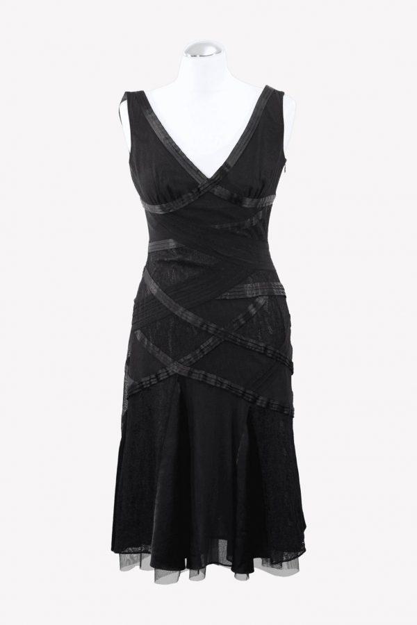 Karen Millen Skaterkleid in Schwarz aus Polyester Alle Jahreszeiten.1