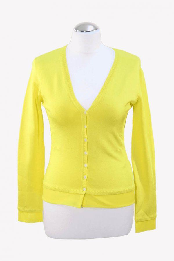 Karen Millen Pullover in Gelb aus Viskose Alle Jahreszeiten.1