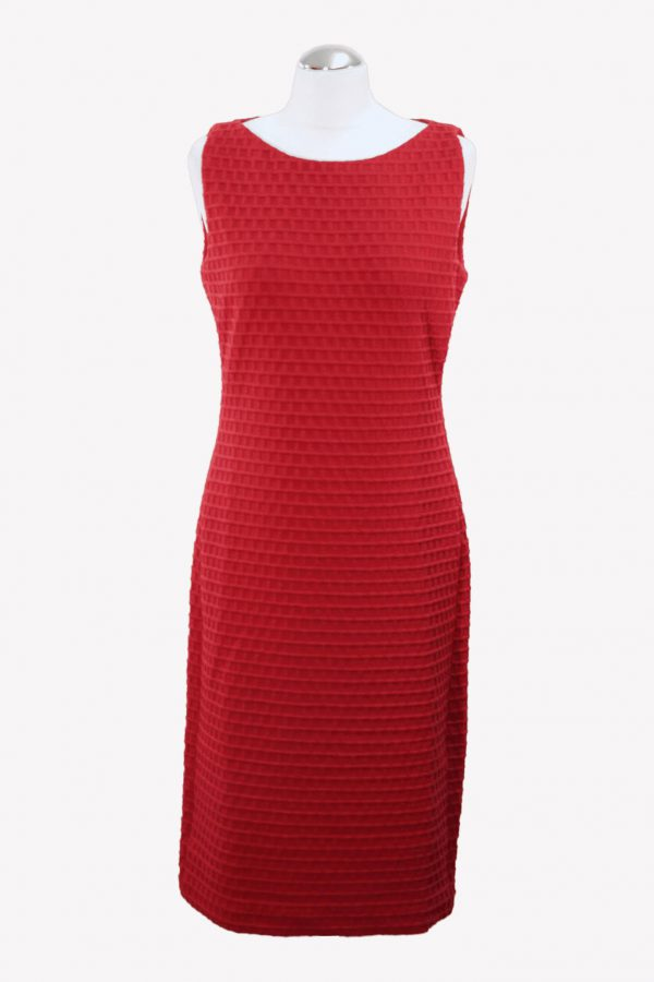Armani Etuikleid in Rot aus Polyester Alle Jahreszeiten.1