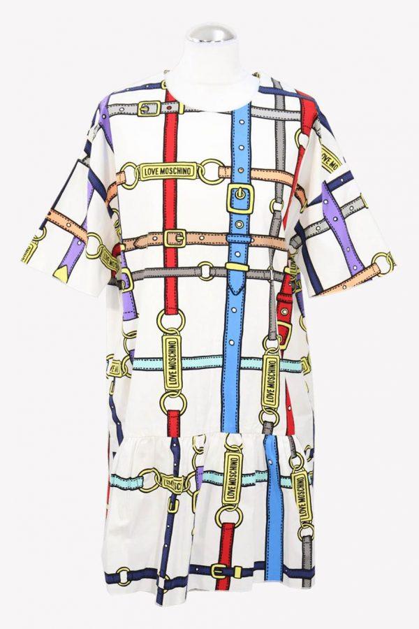 Moschino Shiftkleid in Multicolor aus Baumwolle aus Baumwolle Alle Jahreszeiten.1