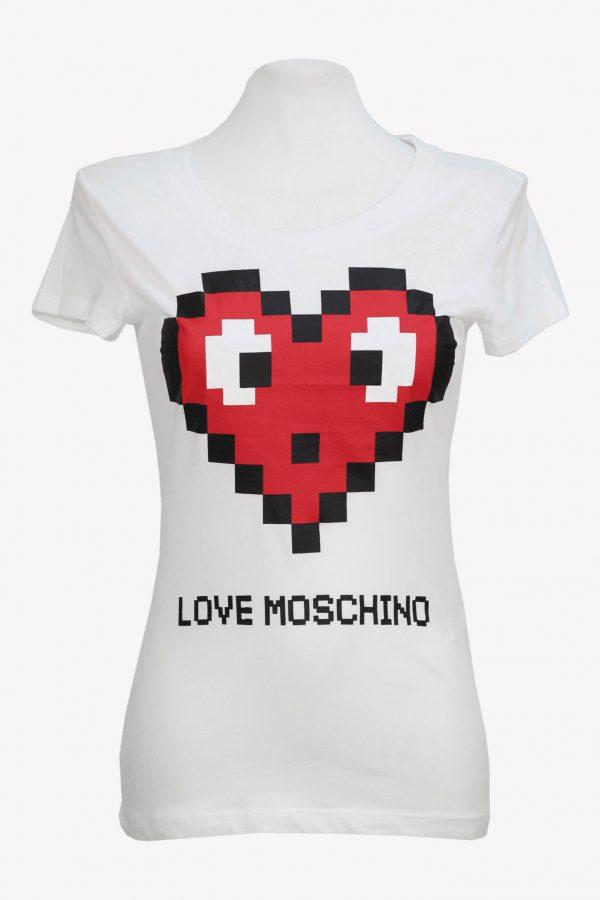 Moschino T-Shirt in Weiß aus Baumwolle aus Baumwolle Alle Jahreszeiten.1
