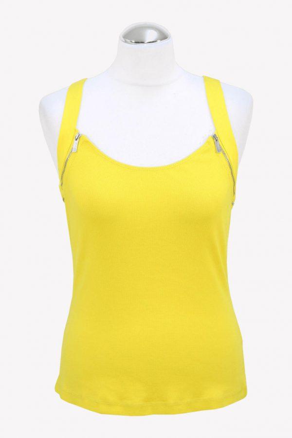 Karen Millen Top in Gelb aus Baumwolle aus Baumwolle Alle Jahreszeiten.1