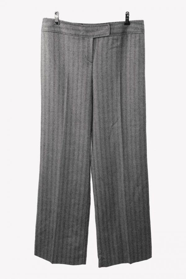 Karen Millen Stoffhose in Grau aus Wolle aus Wolle Alle Jahreszeiten.1