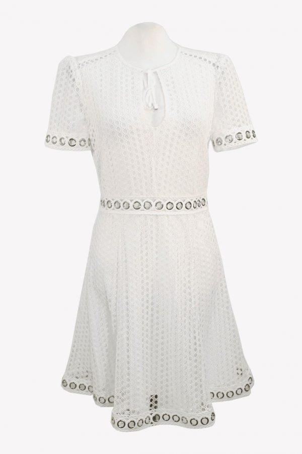 Michael Kors Shiftkleid in Weiß aus Polyester Frühjahr / Sommer.1