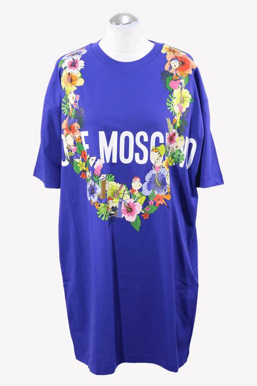 Moschino Shiftkleid in Blau aus Baumwolle aus Baumwolle Alle Jahreszeiten.1