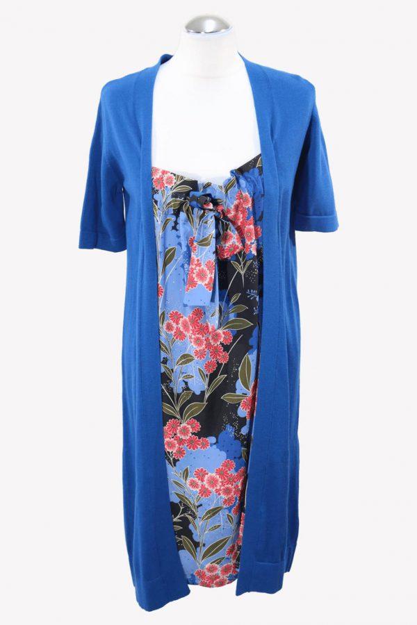 Moschino Pulloverkleid in Blau aus Baumwolle aus Baumwolle Alle Jahreszeiten.1