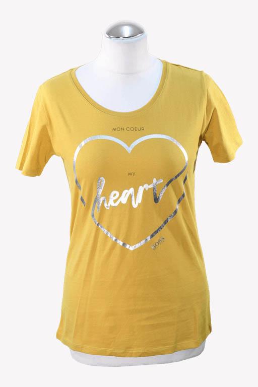 Hugo Boss T-Shirt in Gelb aus Baumwolle aus Baumwolle Alle Jahreszeiten.1