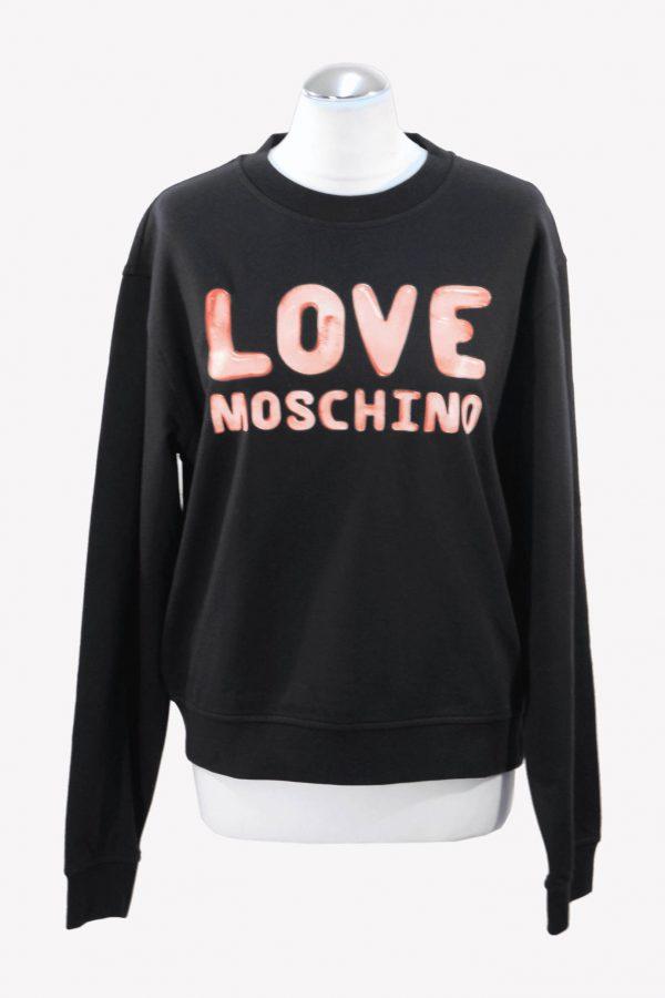 Moschino Pullover in Schwarz aus Baumwolle aus Baumwolle Alle Jahreszeiten.1
