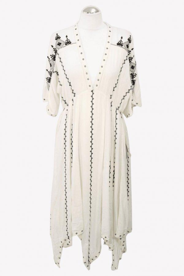 Ralph Lauren Shiftkleid in Creme aus Baumwolle aus Baumwolle Frühjahr / Sommer.1
