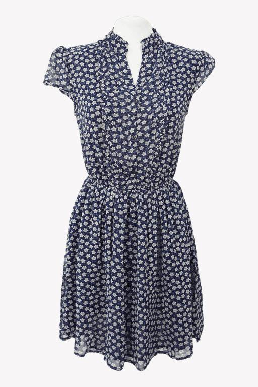 Ralph Lauren Shiftkleid in Blau aus Viskose Alle Jahreszeiten.1