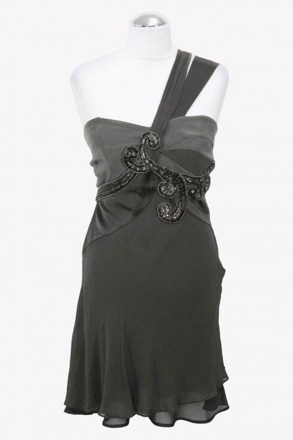 Karen Millen Shiftkleid in Grau aus Seide aus Seide Frühjahr / Sommer.1