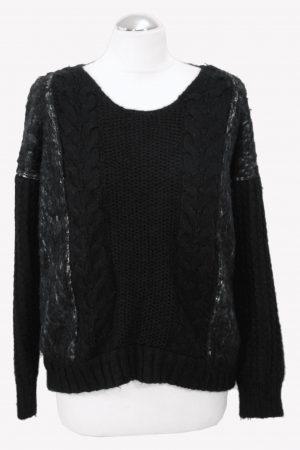 Manosque Pullover in Schwarz aus Wolle aus Wolle Alle Jahreszeiten.1