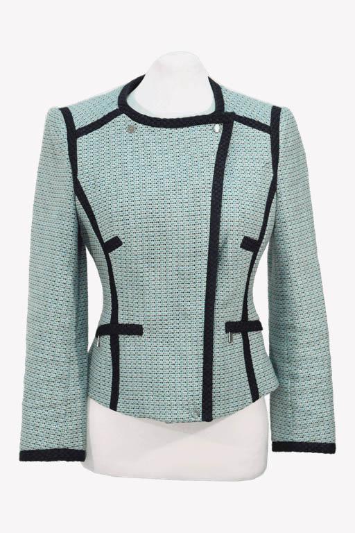 Karen Millen Blazer in Blau aus Baumwolle aus Baumwolle Alle Jahreszeiten.1