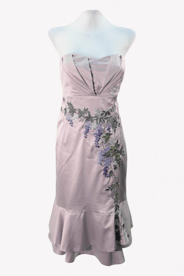 Karen Millen Shiftkleid in Rosa aus Seide aus Seide Alle Jahreszeiten.1