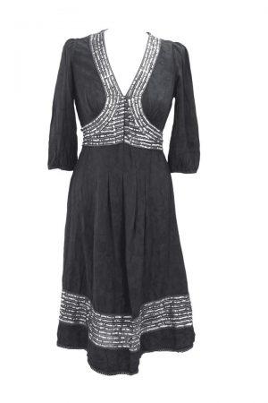 Whistles Kleid mit Paillettenbesatz aus Viskose Alle Jahreszeiten.1