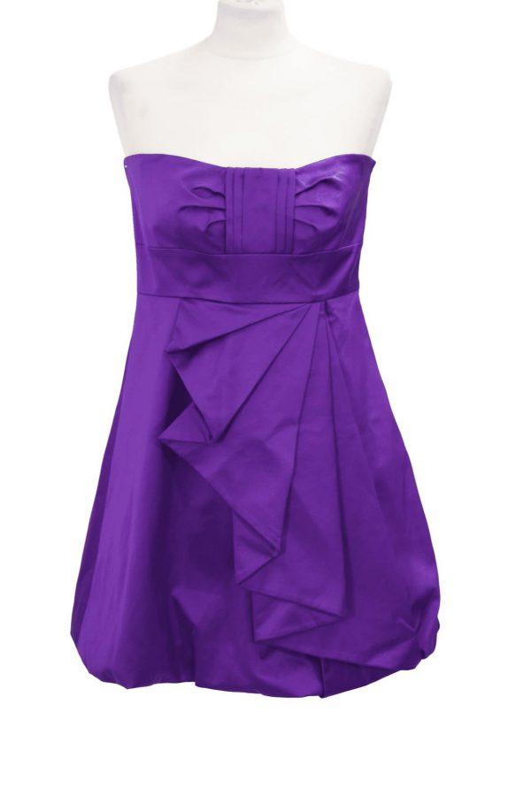 Karen Millen Minikleid in Violett aus Baumwolle Alle Jahreszeiten.1
