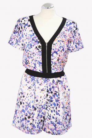 Warehouse Jumpsuit mit Muster aus Polyester Frühjahr / Sommer.1