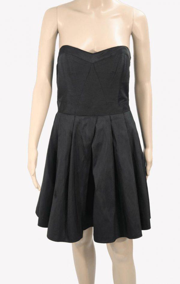 Ted Baker Kleid in Schwarz aus Seide Alle Jahreszeiten.1