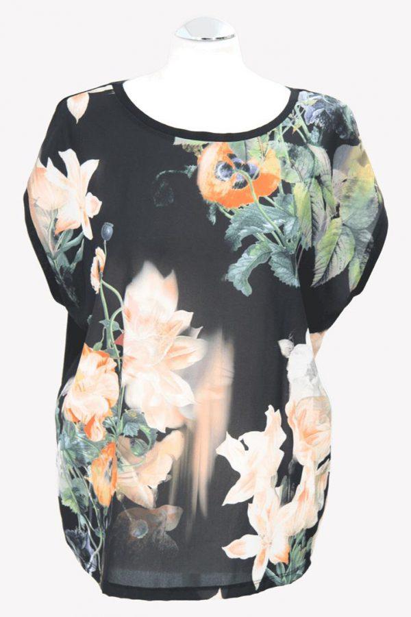 Ted Baker Oberteil mit floralem Print aus Polyester Alle Jahreszeiten.1