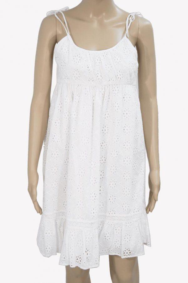 Ralph Lauren Kleid in Weiß aus Baumwolle Frühjahr / Sommer.1