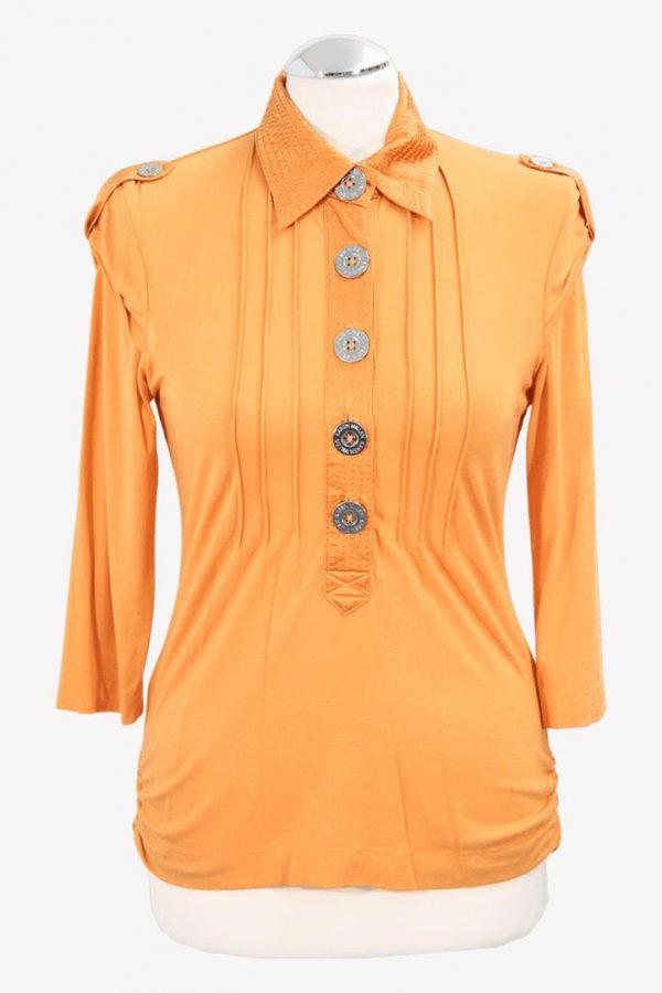 Karen Millen Bluse in Orange aus Viskose Alle Jahreszeiten.1