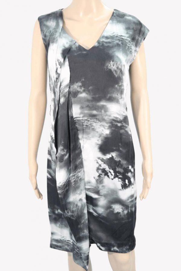 Karen Millen Seidenkleid mit Muster aus Seide Frühjahr / Sommer.1