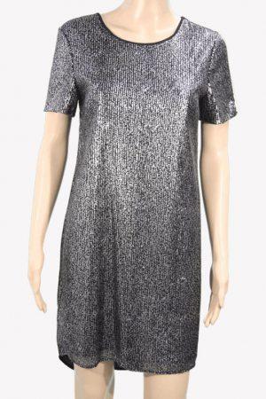 Whistles Paillettenkleid in Schwarz aus Nylon Alle Jahreszeiten.1