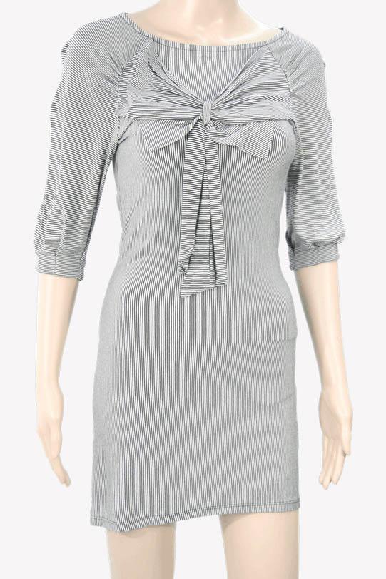 Ted Baker Gestreiftes Kleid aus Viskose Alle Jahreszeiten.1
