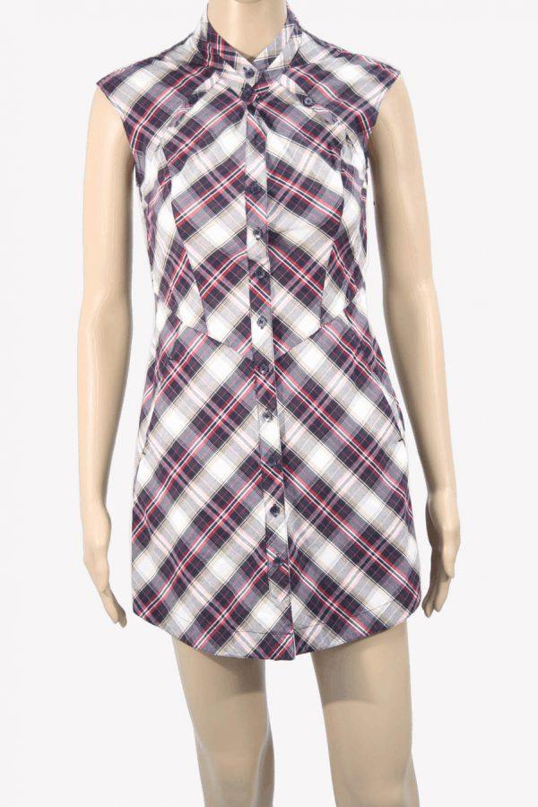 Ted Baker Kariertes Kleid aus Baumwolle Frühjahr / Sommer.1