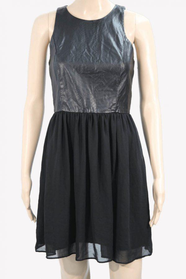 Armani Kleid mit Leder-Optik aus Viskose Alle Jahreszeiten.1