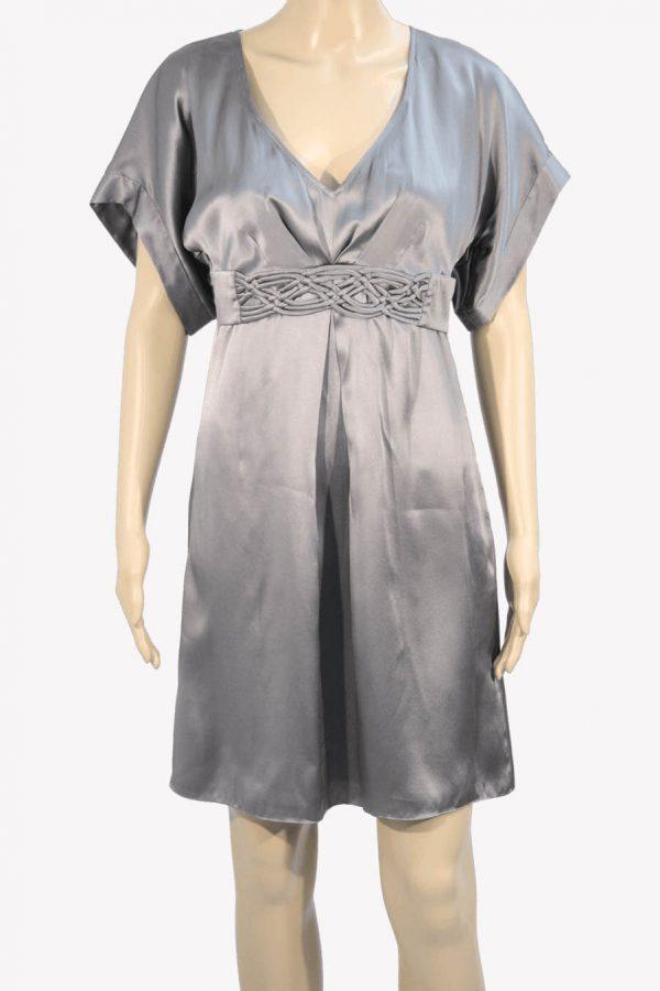 Ted Baker Seidenkleid in Grau aus Seide Alle Jahreszeiten.1