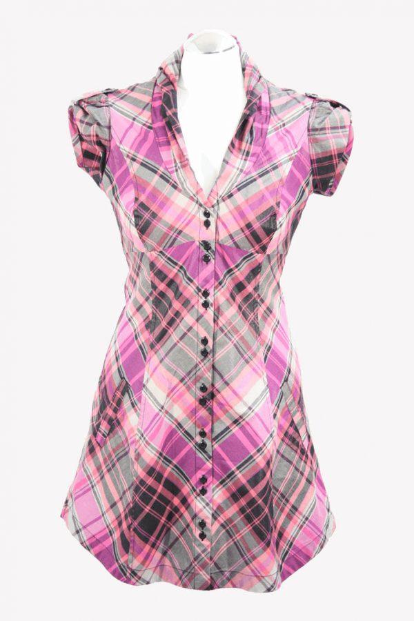 Ted Baker Kariertes Kleid aus Baumwolle Alle Jahreszeiten.1