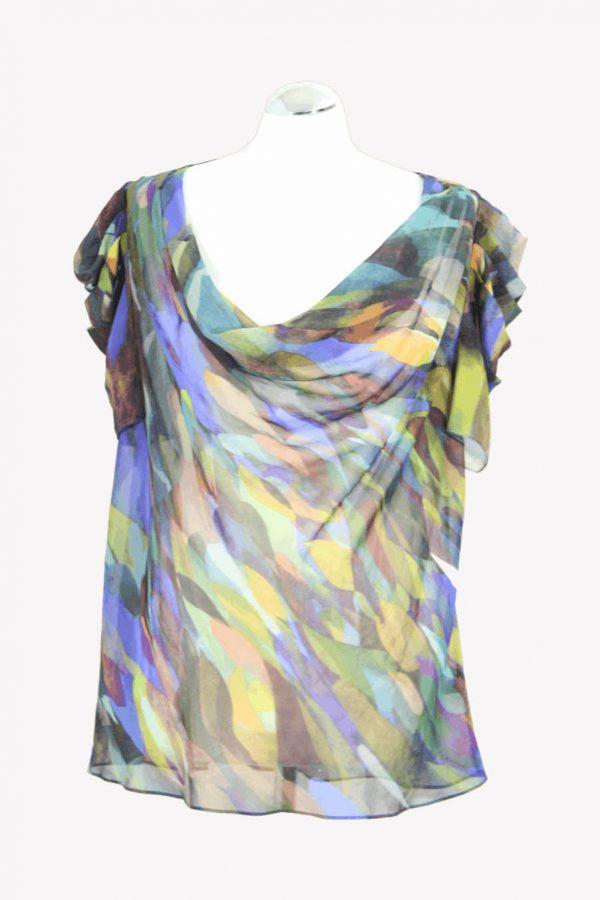 Ted Baker Transparente Oberteil mit Muster aus Polyester Frühjahr / Sommer.1