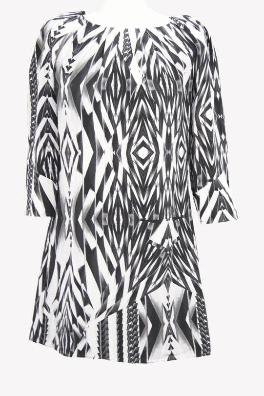 Ted Baker Seidenkleid mit Muster aus Seide Frühjahr / Sommer.1