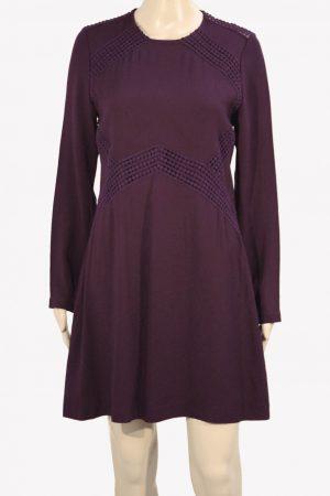 Whistles Kleid in Bordeaux aus Acetat Alle Jahreszeiten.1