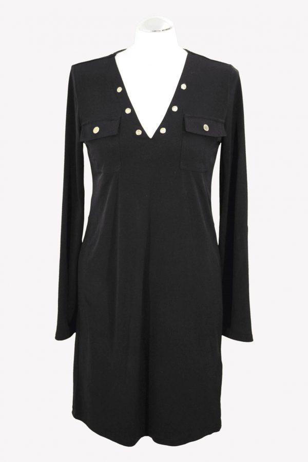 Michael Kors Kleid in Schwarz aus Polyester Alle Jahreszeiten.1