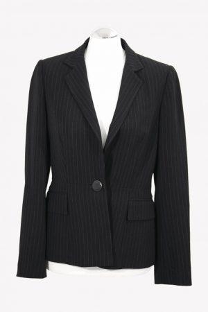 Hobbs Gestreiftes Jacke in Schwarz-Weiß aus Acetat Alle Jahreszeiten.1