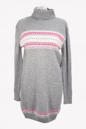 French Connection Langer Pullover in Grau aus Baumwolle Herbst / Winter.1