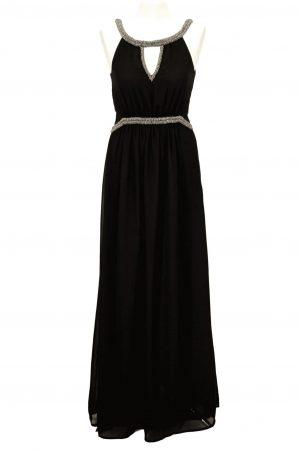 Anna Field Schwarzes Abendkleid aus Polyester Alle Jahreszeiten.1