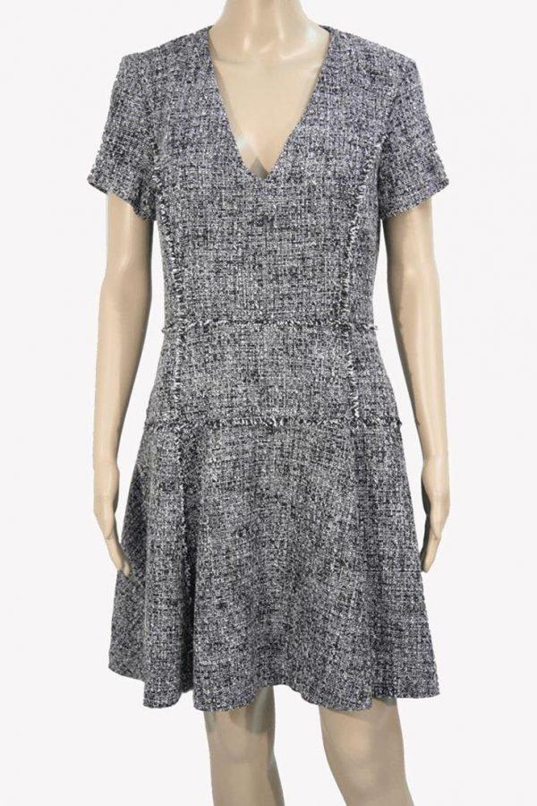 Michael Kors Kleid in Schwarz-Weiß aus Polyester Alle Jahreszeiten.1