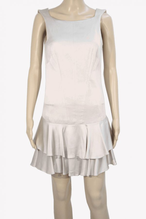 Karen Millen Kleid in Beige aus Acetat Frühjahr / Sommer.1