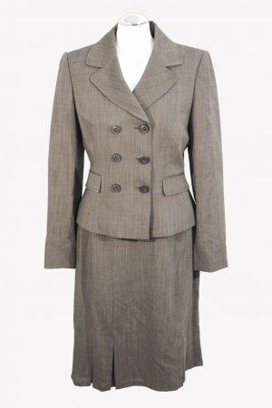 Tahari Wollanzug in Grau aus Wolle Alle Jahreszeiten.1