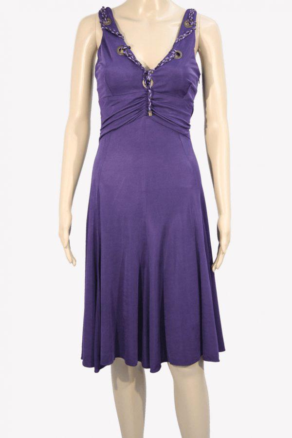 Karen Millen Kleid in Violett aus Viskose Frühjahr / Sommer.1