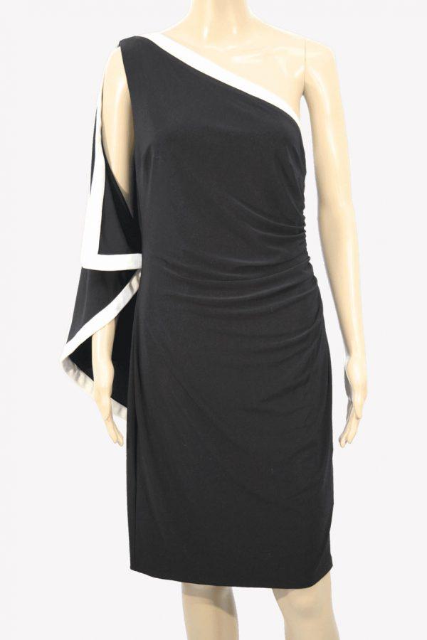 Ralph Lauren Kleid in Schwarz-Weiß aus Polyester Alle Jahreszeiten.1