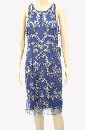 Adrianna Papell Paillettenkleid in Blau aus Polyester Alle Jahreszeiten.1