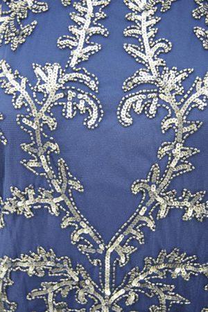 Paillettenkleid in Blau Adrianna Papell