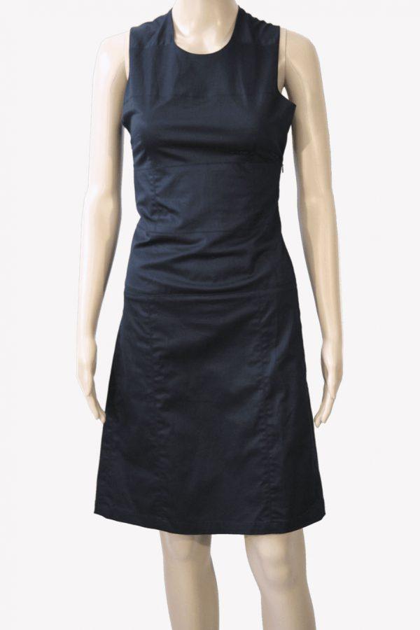 Armani Etuikleid in Schwarz aus Baumwolle Alle Jahreszeiten.1