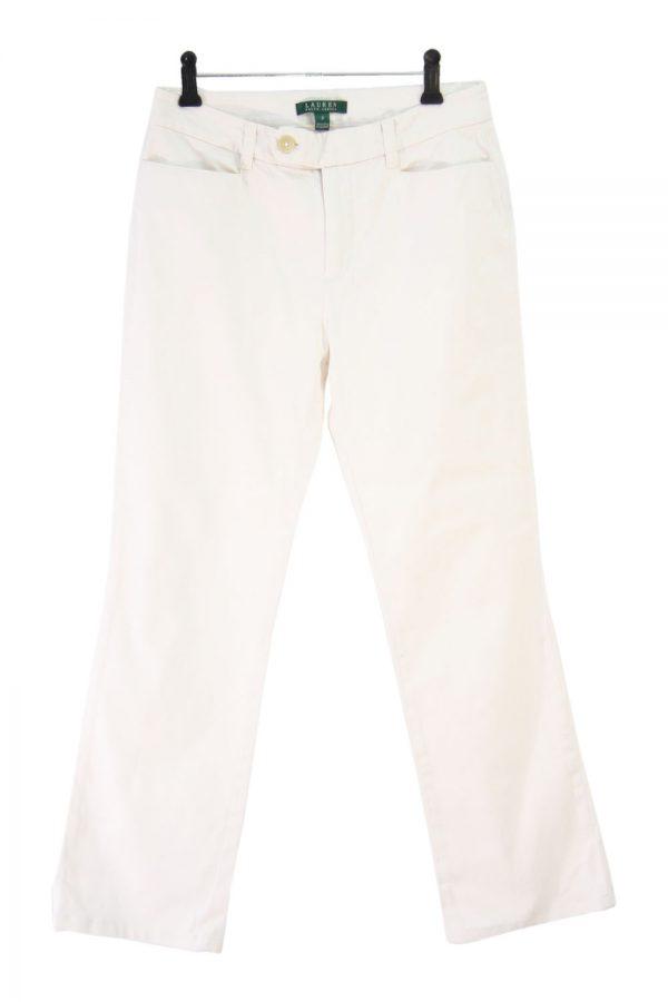Ralph Lauren Stoffhose in Creme aus Polyester Alle Jahreszeiten.1