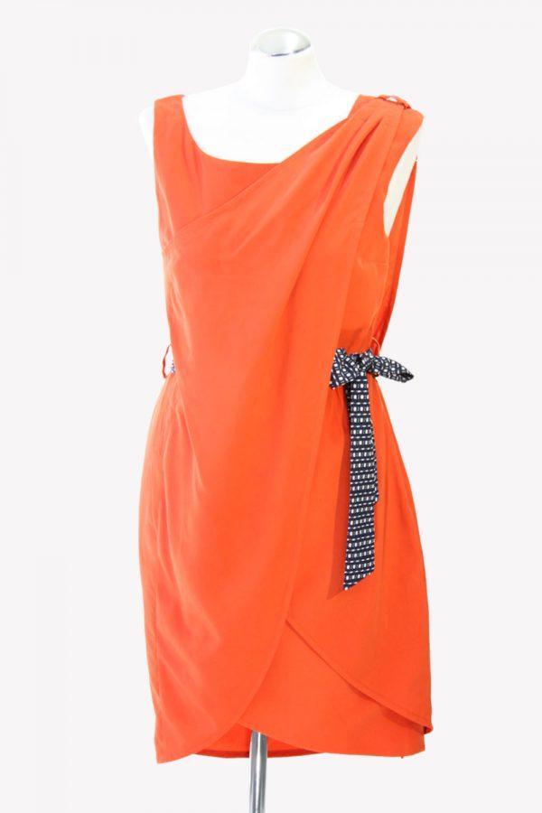 Karen Millen Shiftkleid in Orange aus Polyester Alle Jahreszeiten.1